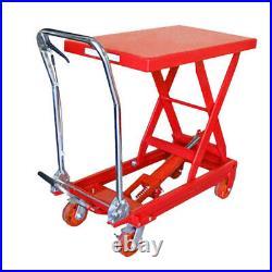 1000 LBS Hydraulic Table Lift Jack Cart Heavy Duty Mobile