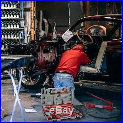 10Ton Porta Power Hydraulic Jack Air Pump Lift Ram Body Frame Repair Tool Kit US
