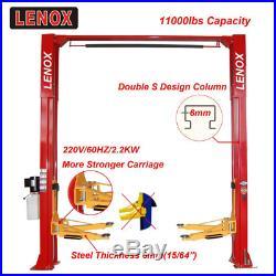 11000 lbs. 2 Two post Auto Lift Car Lift Auto Hoist Two 2 Post Double S Design