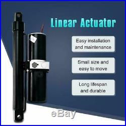 12V Hydraulic Linear Actuator Heavy Duty 1700lbs 10 Stroke Length Rugged Duty