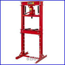 12 Ton H-Frame Hydraulic Floor Press Shop Press Garage Heavy Duty Machinery