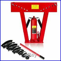 12 Ton Heavy Duty Hydraulic Pipe Bender Tubing Exhaust Tube Bending w- 6 Dies