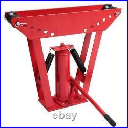 12 Ton Heavy Duty Hydraulic Pipe Bender Tubing Exhaust Tube Bending with 6 Dies