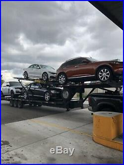 2017 Easy4 Kaufman Four Car Hauler Hydraulic Brakes/heavy Duty Mesh/ramp Holder