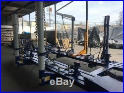 20 Feet 4 Towers Auto Body Frame Machine 360 Degrees 40 Ton Heavy Duty