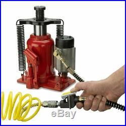 20 Ton Air Hydraulic Bottle Jack Lift Repair Car Truck Semi Heavy Duty
