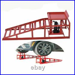 2PCS Auto Car truck Service Ramp Lifts Heavy Duty Hydraulic Lift Repair Frame