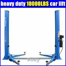 2-Post Lift Car Auto Truck Hoist 220V Floor Plate Auto Ramp 10,000 LB Capacity