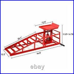 2x Lift Heavy Auto Car Lifts Frame Repair Ramps Hydraulic Portable Service Duty