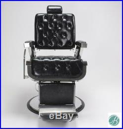 2x ROWLING Stylish Barber Chair Black HeavyDuty Hydraulic Reclining Salon Chair