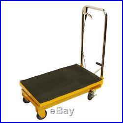 32W x 17-1/2W Mobile 330LB Heavy Duty Hydraulic Table Lift 9 To 28 Jack Cart