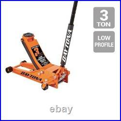 3 Ton Floor Jack Heavy Duty Steel Ultra Low Profile Rapid Quick Pump Daytona