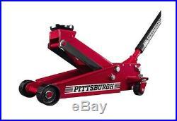 3 Ton Floor Jack With Rapid Pump Lift Steel Heavy Duty Car Truck Red Raise Car