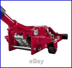 3 Ton Heavy Duty Steel Ultra LOW PROFILE RED Floor Jack Rapid Pump NEW