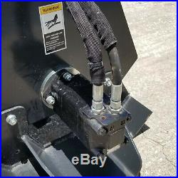72 Skid steer Tiller HEAVY DUTY Hydraulic Roto Cultivator Conditioner skidsteer