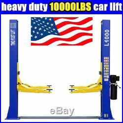 A++10,000 lbs L1000 Two Post Lift Car Auto Truck Hoist 220V Great Quality