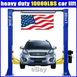 A++10,000lbs Car Lift L1100 2 Post Lift Car Auto Truck Hoist FREE SHIPPING! 220V