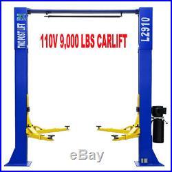 A+9,000 LB L2910 2 Post Lift Car Auto Truck OVER HEAD Hoist FREE SHIPPING 110V