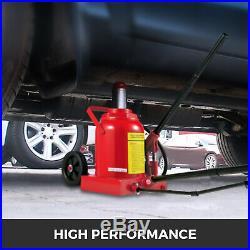 Air Hydraulic Bottle Jack 50 Ton Manual 110231lb Heavy Duty Auto Truck RV Repair