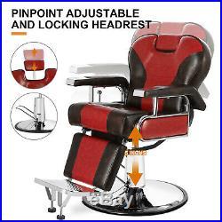 All Purpose Heavy Duty Recline Barber Chair Hydraulic Salon Shampoo Equipment