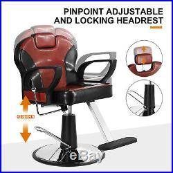 All Purpose Hydraulic Barber Chair Hair Salon Recline Heavy Duty Classic Premium