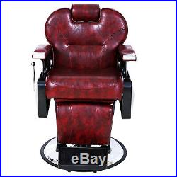 All Purpose Hydraulic Reclining Barber Chair Salon Stylist Heavy Duty Equipment