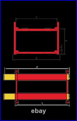 Amgo Modelpro 18a 4 Post Commercial Truck Alignment Lift 18,000 Lb. Capacity