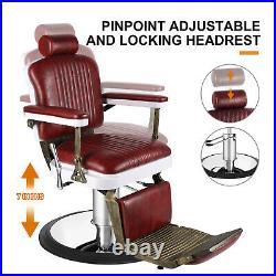 Antique HeavyDuty Barber Chair Hydraulic Recline Beauty SalonSpa Shampoo Styling
