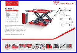 Aston 8000lb Car Scissor Lift Mid Rise Electric Lock ReleaseLifting Heigh 47