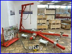 Auto Body Frame Puller Straightener With Roof attachment tools, FREE Air go Jack