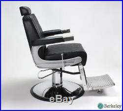Barber Chair Black KING Heavy Duty Hydraulic Recline Barber Shop Salon Furniture