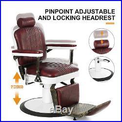 Barber Chair Heavy Duty Barber Chair Hydraulic Reclining for Salon Equipment