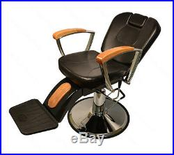 Barber Chair Salon Hair Styling Beauty Tattoo Heavy Duty Reclining Hydraulic