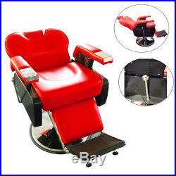 Barber Shop Black Hydraulic Recline Salon Chair Beauty Spa Heavy-Duty Equipment