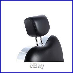 Black Heavy Duty Fashion Hydraulic Barber Chair Recline Salon Beauty Spa Shampoo