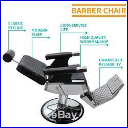 Black Heavy Duty Hydraulic Recline Barber Chair Salon Spa Beauty All Purpose