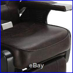 Brown Hydraulic All Purpose Barber Chair Heavy Duty Reclining Salon Spa Shampoo