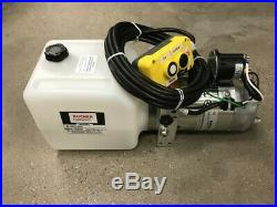 (Bucher/Monarch) 2 way hydraulic Pump WithRemote, 12 volt Heavy Duty 3000 PSI