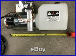 (Bucher/Monarch) 4 way hydraulic Pump WithRemote, 12 volt Heavy Duty 3000 PSI