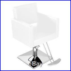 Classic Heavy Duty Hydraulic Barber Chair Shampoo Salon Beauty Spa Haircut White