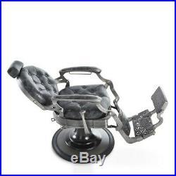 Dir Barber Chair Heavy Duty Hydraulic Barber Shop Chair in Distressed Finish
