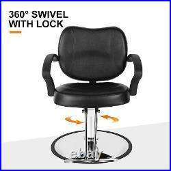 Ergonomic Hydraulic Lift Barber Chair Heavy Duty Salon Hair Styling Shave Chair