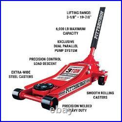 Floor Jack 3 Ton Heavy Duty Steel Low Profile Rapid Pump Car Pump Lowrider