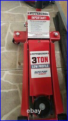 Floor jack 3 Ton Low Profile Steel Heavy Duty Floor Jack 3 1/8 low profile Red