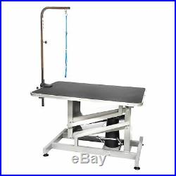 Go Pet Club HGT-509, 36 inch Z-Lift Hydraulic Pet Dog Grooming Table with Arm