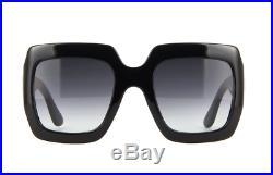 Gucci GG0053S 001 54mm Oversize Square Black Women Sunglasses FAST SHIPPING US