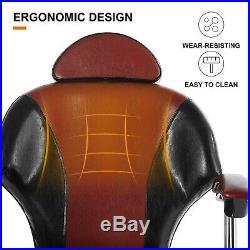 Hair Salon Barber Chair Hydraulic Recline Heavy Duty Ergonomic Styling Equipment