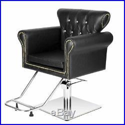 Heavy Duty Hydraulic Antique Barber Chair Salon Beauty Shampoo Styling Equipment