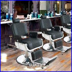 Heavy Duty Hydraulic Recline Barber Chair Salon Beauty All Purpose Equipment PU