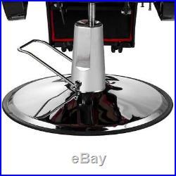 Heavy Duty Hydraulic Recline Barber Chair Salon Beauty All Purpose Equipment Red